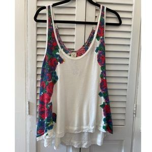 NWT Free People Floral Flowy Tank Large